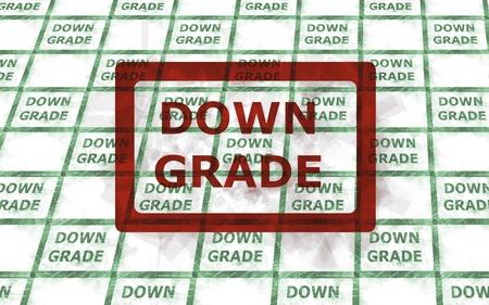 credit risk: downgrade Stock Photo