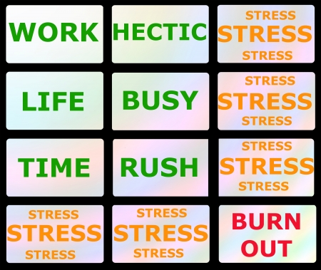 hectic: BURNOUT-SYNDROME