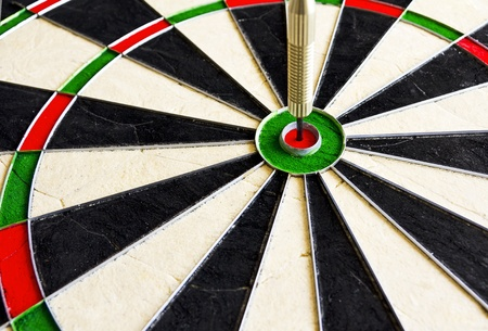 flèche double: Dart à Bullseye Banque d'images