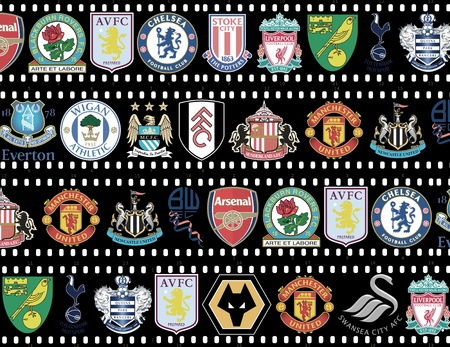 Premier League Teams 2011/12 Stock Photo - 11653187