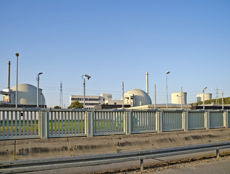 rwe: Biblis (Germany), October 16, 2011: Nuclear power station in Biblis (Hesse, Germany). Plant operator: RWE Group. The seven nuclear power plants immediately shut down in Germany after Fukushima include Biblis.