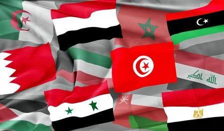 arab flags: Arab Spring Stock Photo