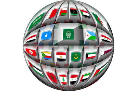 arab flags: Arab League Countries