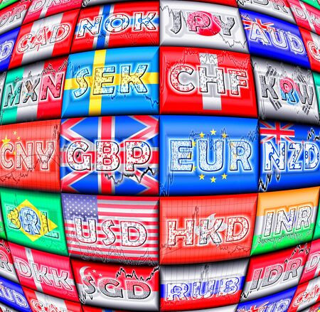 foreign trade: International currencies Stock Photo