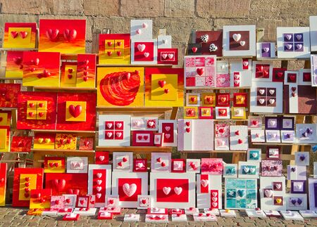 All about hearts at a German street shop