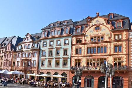 Old town district of Mainz (Germany)