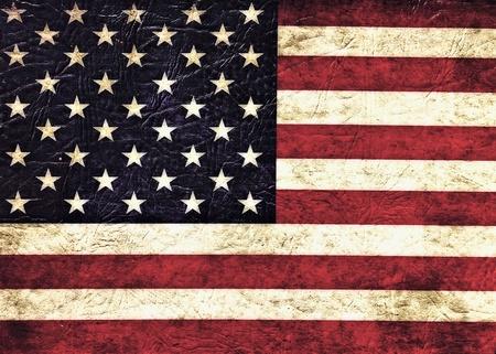 Vintage flag of USA