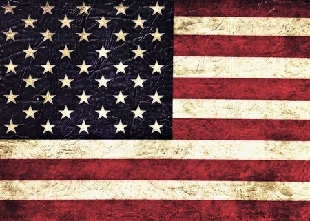 forth: Vintage flag of USA