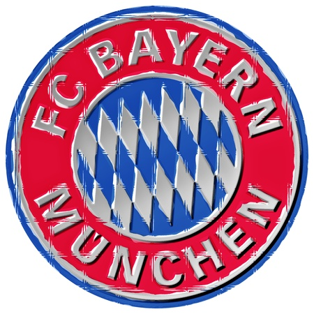 Crest of German Football team FC Bayern Munich, Germany