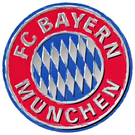 Crest of German Football team FC Bayern Munich, Germany