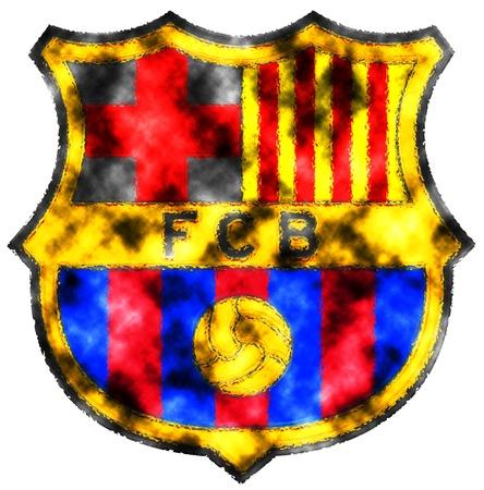 FC バルセロナのバッジの使用 写真素材 - 13668641