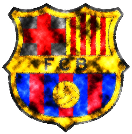 Used badge of FC Barcelona Stock Photo - 13668641