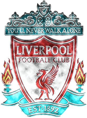 Used badge of FC Liverpool
