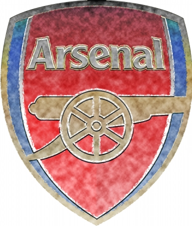arsenal: Used badge of Football Club Arsenal London