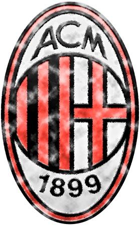 イタリアのサッカー クラブの AC ミラノのバッジの使用