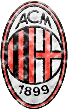 Used badge of Italian Football Club AC Milan