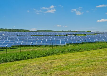 Solar Park in Hesse, Germany Stock Photo - 13775510