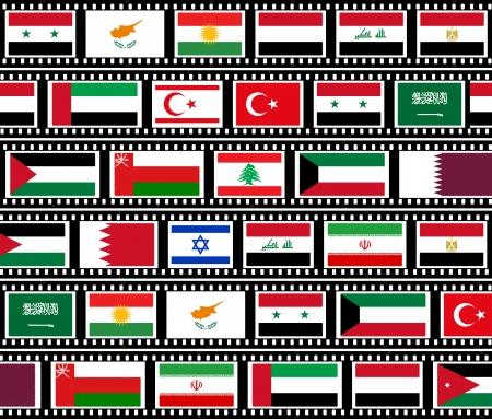 bandera de egipto: Los pa�ses de Oriente Medio