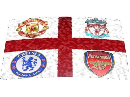 Engels Premier League Big Four clubs: Arsenal, Chelsea, Liverpool en Manchester United.