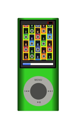 portable mp3 player: Portable media player: consumer electronics device for storing and playing digital media  Editorial