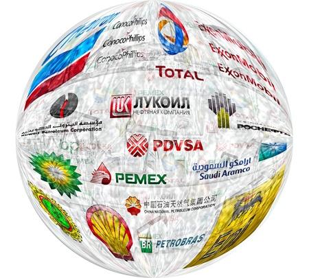 最も大きい私用および国有の製油会社の大手石油会社: イラスト