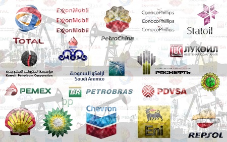 Big Oil: Illustration of the largest private and state-owned oil companies