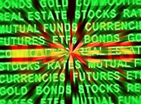 commodities: LOS MERCADOS FINANCIEROS Foto de archivo