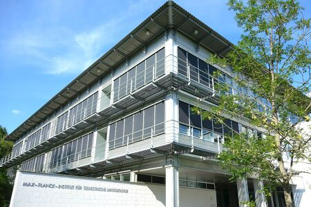 university building:  Marburg, Germany, August 13, 2012: Max Planck Institute for Terrestrial Microbiology Editorial