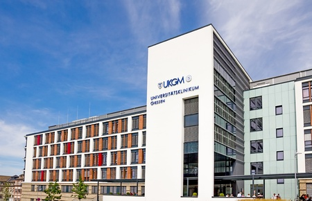 privatization: Giessen, Germany, September 2, 2012: New building of University Hospital Giessen and Marburg in Giessen, Hesse, Germany