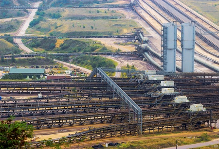 rwe: Garzweiler, North-Rhine Westphalia, Germany - September 3, 2012: The opencast Garzweiler is operated by RWE Group and used for mining lignite