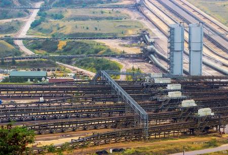 rwe: Garzweiler, North-Rhine Westphalia, Germany - September 3, 2012: The opencast Garzweiler is operated by RWE Group and used for mining lignite