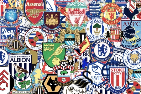 chelsea: Badges of famous English Football Clubs Editorial