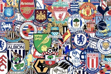 Badges van beroemde Engels voetbalclubs Redactioneel