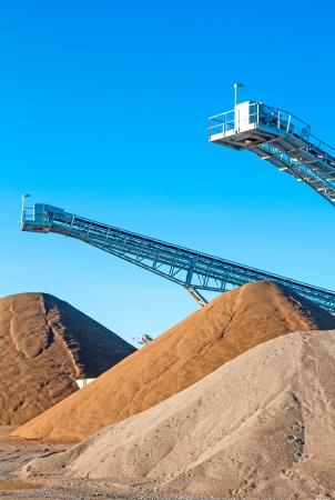 foso: Miner�a a cielo abierto Foto de archivo