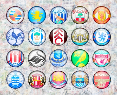 champions league: English Premier League Football Teams 201213 Editorial