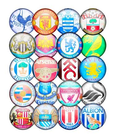 Premier League Teams 2012/13: Kleuren en badges van het Engels voetbalclubs