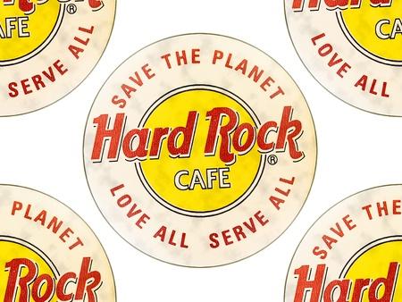 logotipos de restaurantes: Hard Rock Cafe es una cadena de restaurantes temáticos en todo el mundo