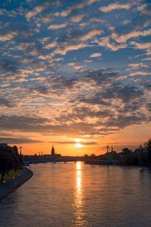 Frankfurt Sunrise Stock Photo - 20307489