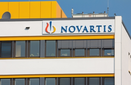 multinational: Marburg, Germany - July 6, 2013  Office of Swiss multinational pharmaceutical company Novartis International
