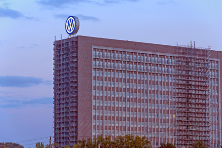headquarter: Wolfsburg, Germany - September 26, 2015: Headquarter of the German automobile manufacturer Volkswagen AG Editorial