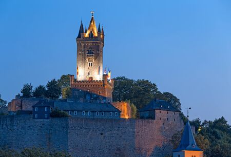 orange nassau: Dillenburg, Germany - Old castle Wilhelmsturm
