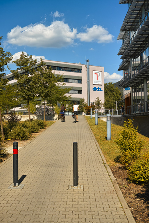 cancer research: Heidelberg, Germany - July 21, 2015: German Cancer Research Centre at Technology Park of Heidelberg