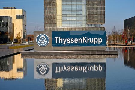 エッセン, ドイツ - 2015 年 11 月 1 日: ドイツの多国籍企業の本社会社エッセン、ドイツのティッセン クルップ AG