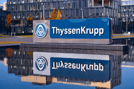 ag: Essen, Germany - November 1, 2015: Headquarters of German multinational company ThyssenKrupp AG in Essen, Germany Editorial