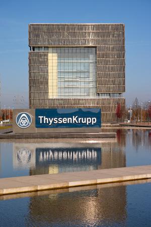 エッセン、ドイツ - 2015 年 11 月 1 日: ドイツの本部の多国籍会社エッセン、ドイツのティッセン クルップ AG 報道画像