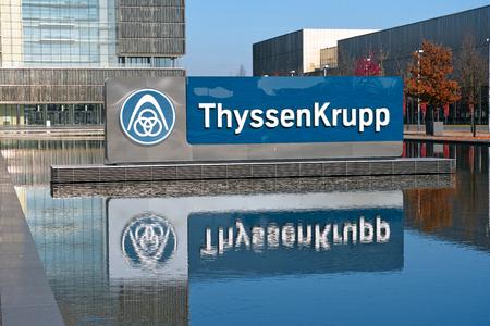 エッセン, ドイツ - 2015 年 11 月 1 日: ドイツの多国籍会社エッセン、ドイツのティッセン クルップ AG の本社