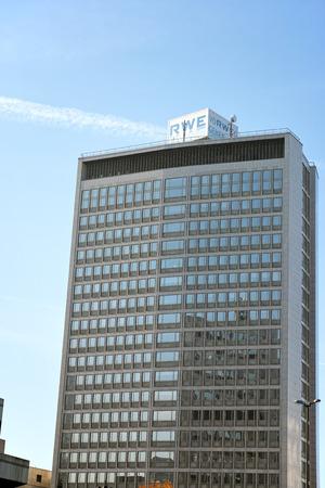 エッセン, ドイツ - 2015 年 11 月 1 日: 事務所ビルの商法ユーティリティ RWE AG 本社エッセン、ドイツ 報道画像