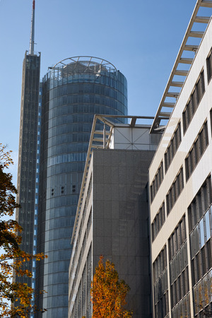 dysentery: Essen, Germany - November 1, 2015: Tower of German utility company RWE AG