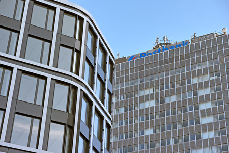 エッセン, ドイツ - 2015 年 11 月 1 日: エッセン, ドイツ - 2015 年 11 月 1 日: 事務所建物のドイツ小売銀行ポストバンク AG ドイツ銀行 AG エッセンの子会