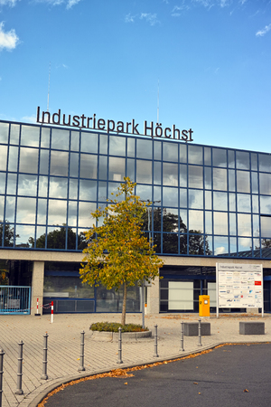 industrial park: Frankfurt, Germany - August 15, 2015: Industrial Park of Hoechst district of Frankfurt am Main